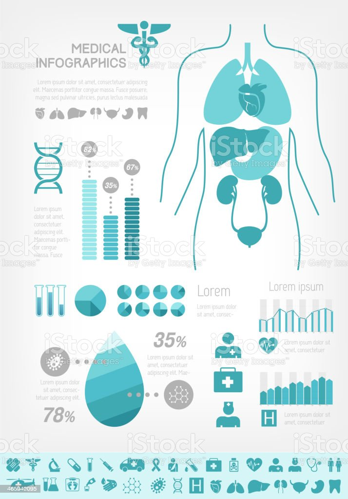 Medical Infographic Template. royalty-free stock vector art