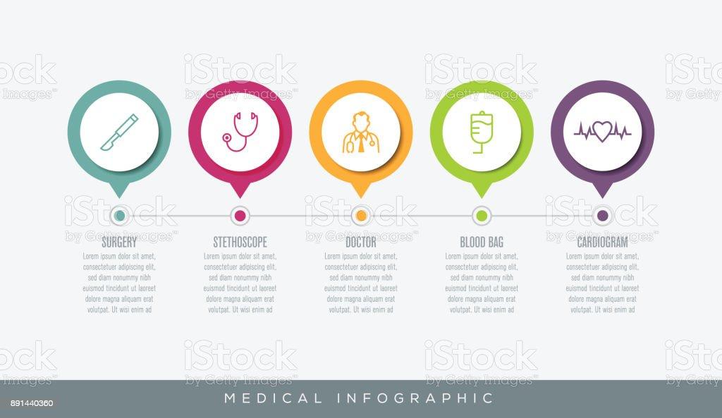 Infografía médica - ilustración de arte vectorial