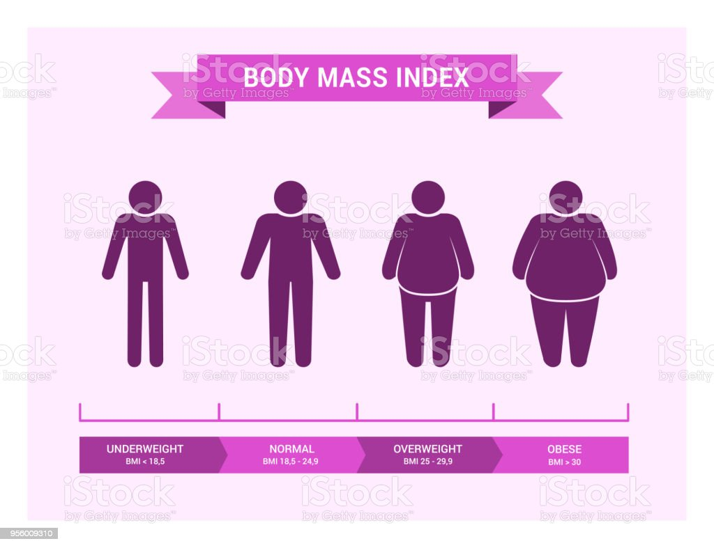 medical infographics body mass index obesity and overweight