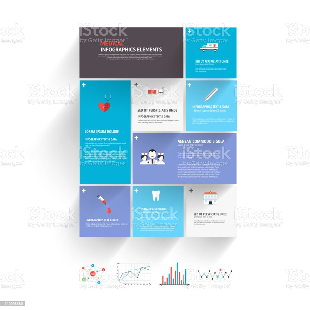 Medical Infographics Elements Stock Vector Art & More Images
