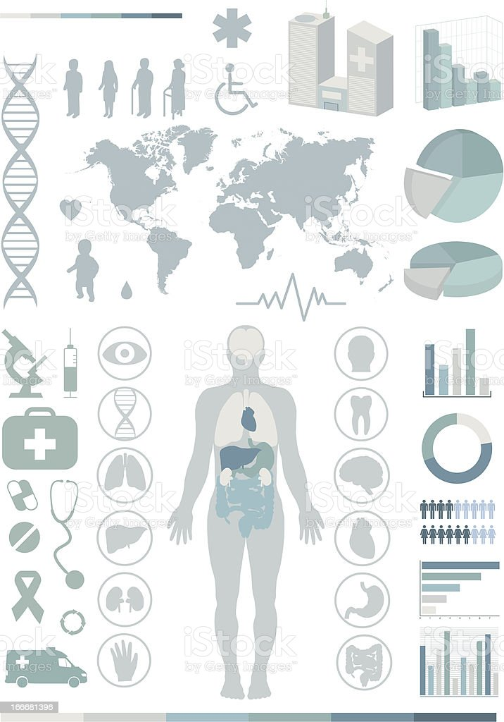 Medical infographics. vector art illustration