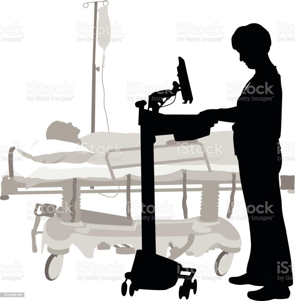 Medical Information At Hand vector art illustration