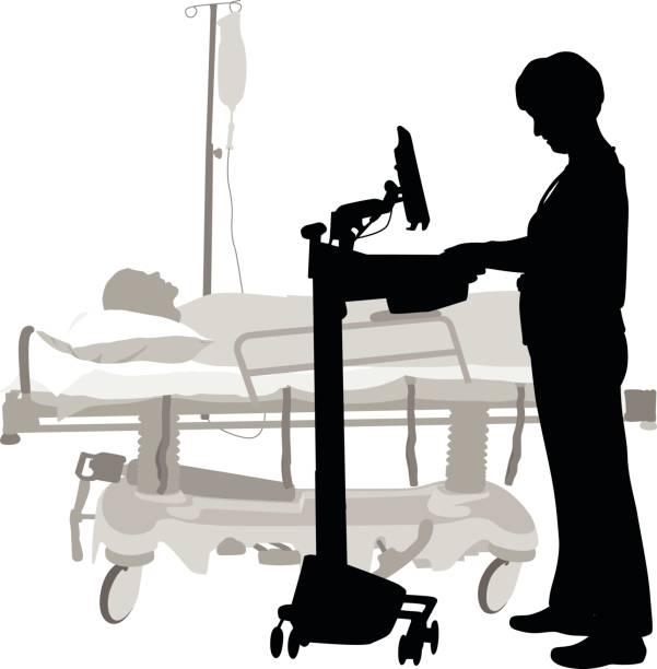 illustrations, cliparts, dessins animés et icônes de informations médicales à portée de main - aide soignant