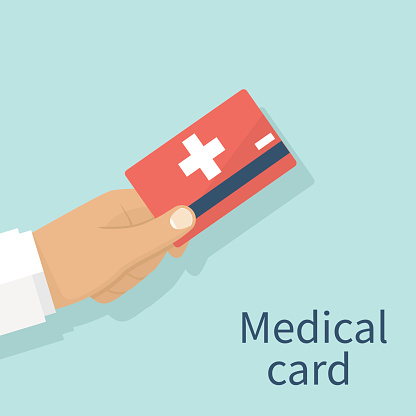 Medical Insurance Cards Stock Illustration - Download ...