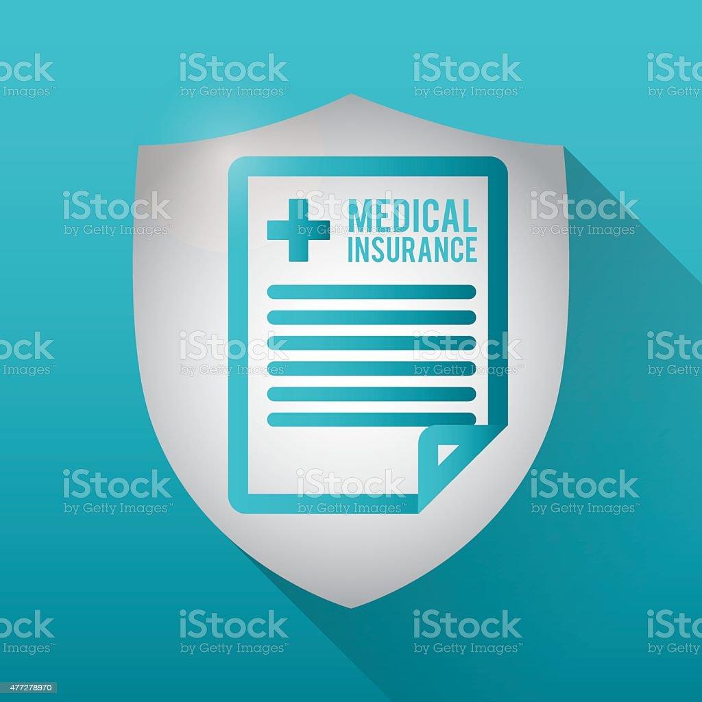 Medical insurance design over blue background, vector illustration.
