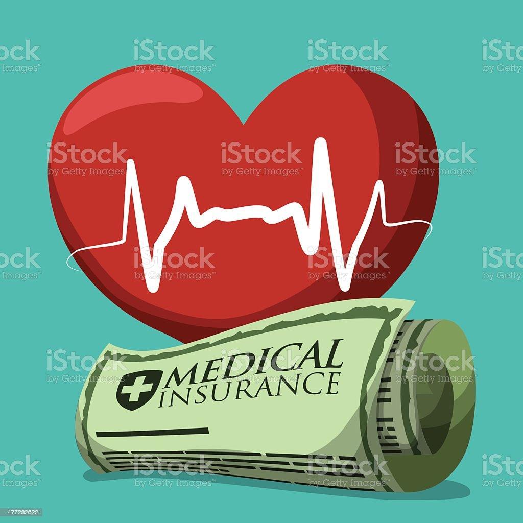 Medical insurance design over white background, vector illustration.