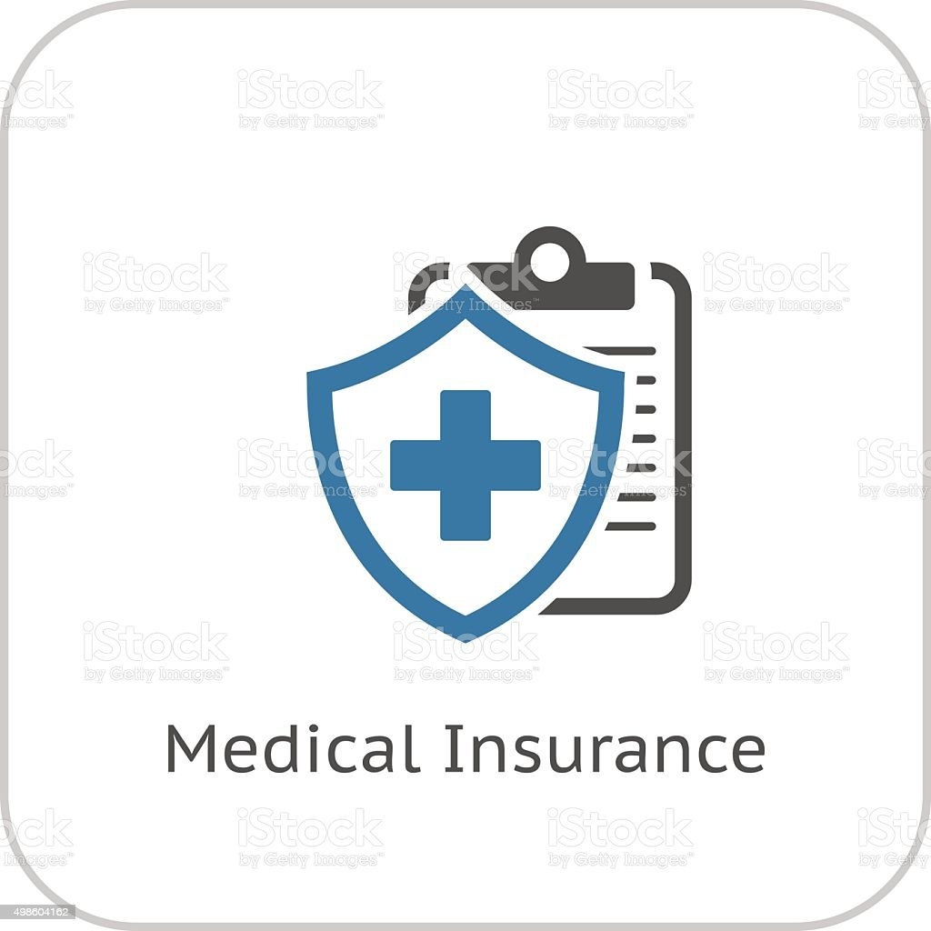 Medical Insurance Icon. Flat Design. vector art illustration