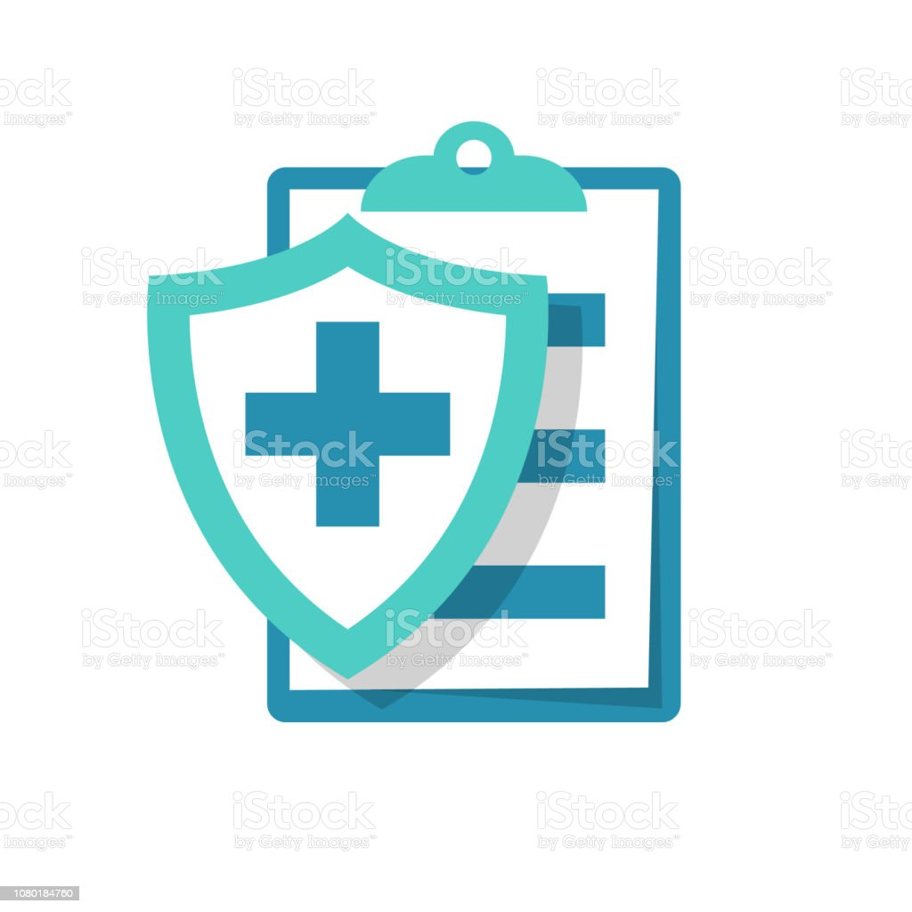 Medical insurance icon. Patient protection - Royalty-free Acidentes e Desastres arte vetorial