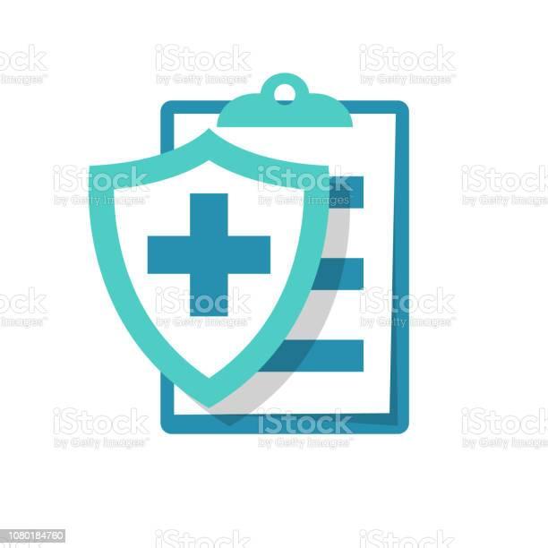 Medical Insurance Icon Patient Protection - Arte vetorial de stock e mais imagens de Acidentes e Desastres