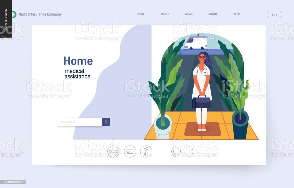 Medical Insurance Template Home Medical Assistance Stock