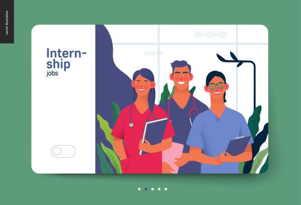 医療保険テンプレート - インターンシップの仕事 - 救急救命士点のイラスト素材/クリップアート素材/マンガ素材/アイコン素材