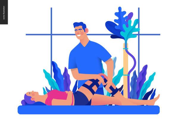 ilustrações, clipart, desenhos animados e ícones de modelo de seguro médico-ortopédico e traumatologia - ortopedia