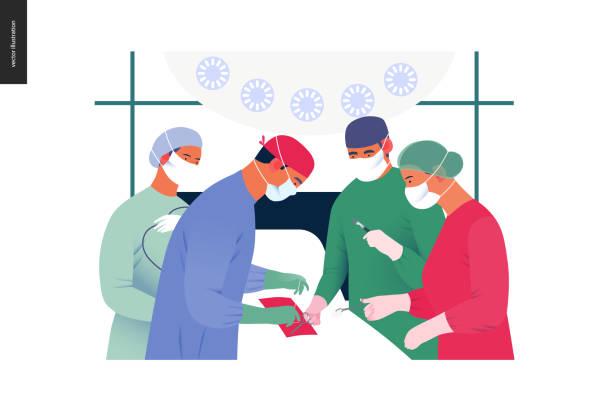 醫療保險範本 - 手術 - surgeon 幅插畫檔、美工圖案、卡通及圖標