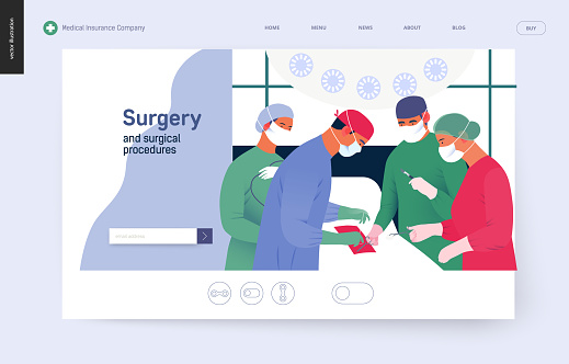 Medical Insurance Template Surgery Stock Illustration - Download Image Now