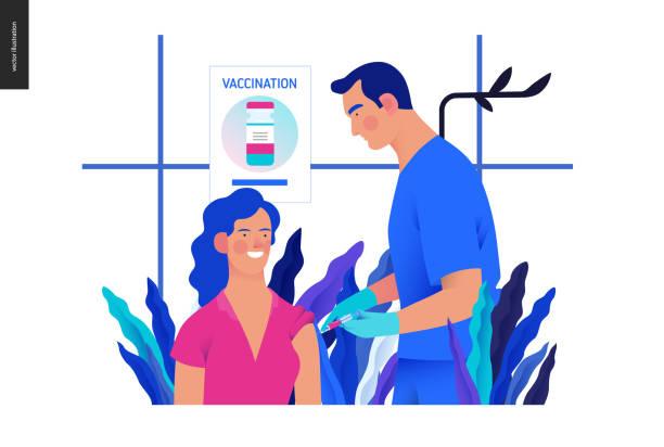 illustrazioni stock, clip art, cartoni animati e icone di tendenza di medical insurance template - vaccination schedule - dose