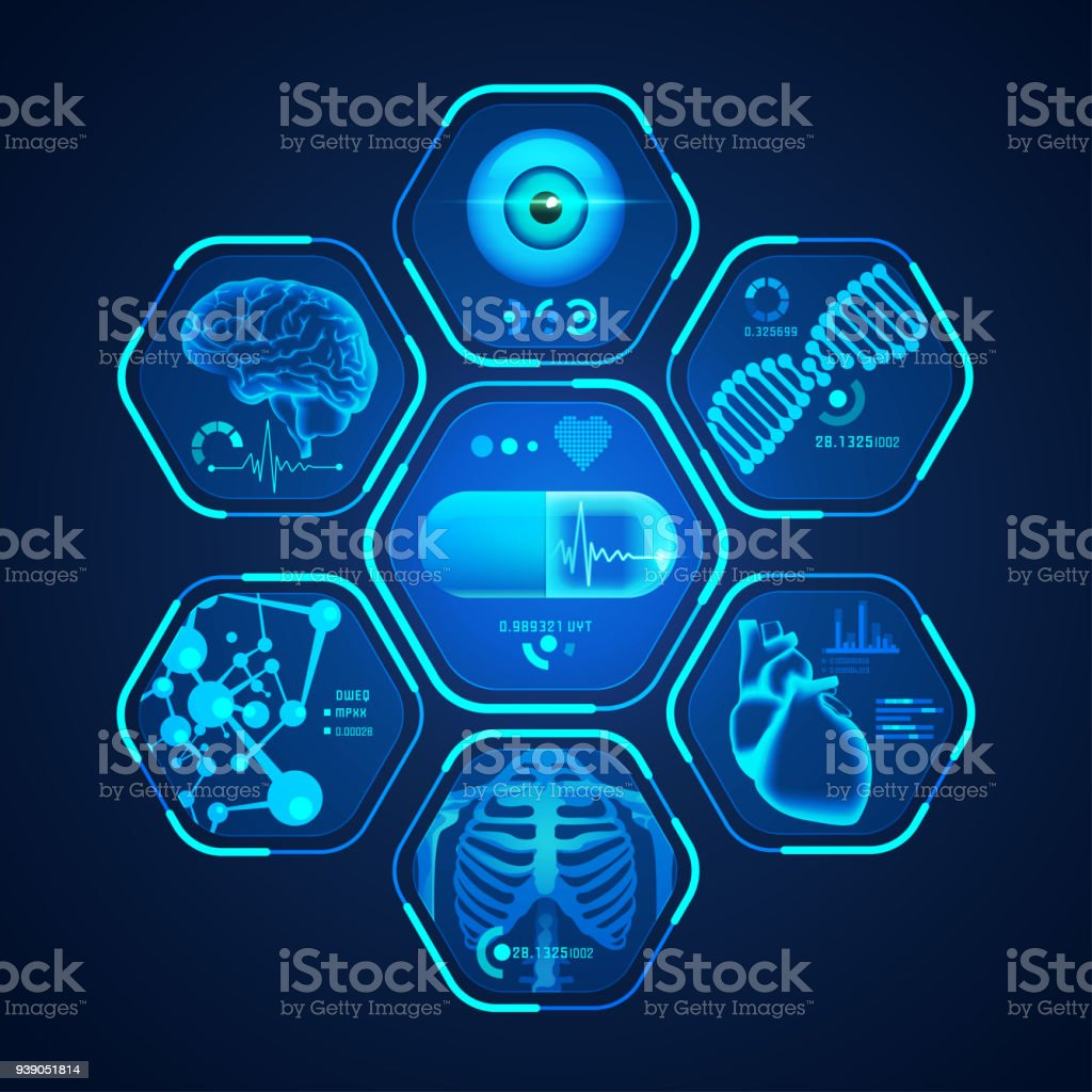 medical interface - Royalty-free Abstract stock vector