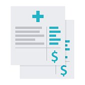 Medical Invoice or Hospital Bills Icon