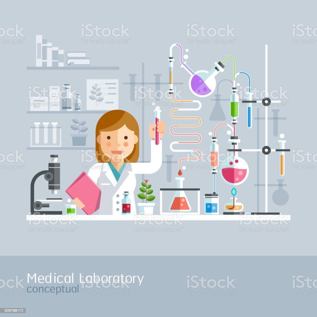 Medizinische Labor konzeptionelle. – Vektorgrafik