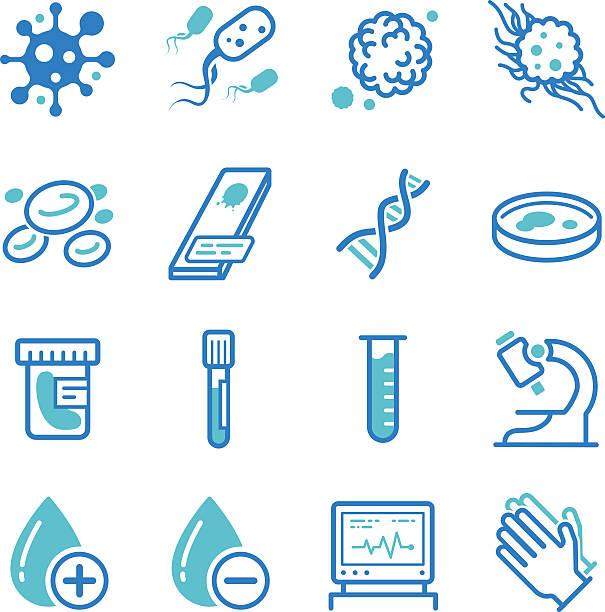 medical laboratory symbole - krebs tumor stock-grafiken, -clipart, -cartoons und -symbole