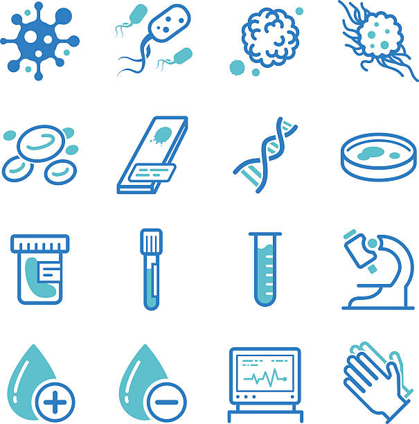 Medical laboratory icons vector art illustration
