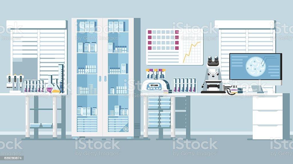 Medical Laboratory Illustration ベクターアートイラスト