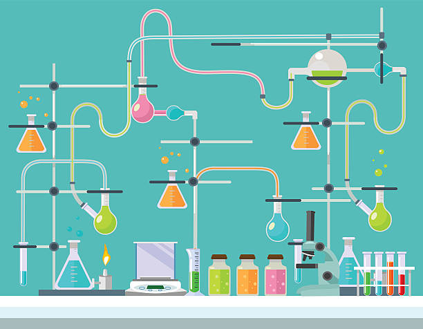 Medical laboratory. Vector flat illustration vector art illustration