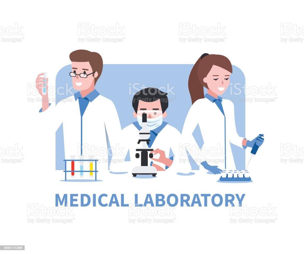 medical laboratory vector art illustration