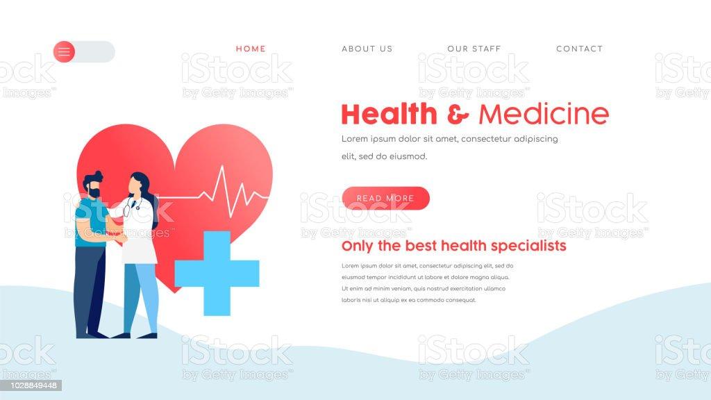193e34177465 Modelo de página de aterrissagem médicas para médico web vetores de modelo  de página de aterrissagem