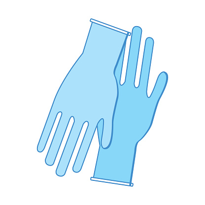 Medical Latex Gloves To Protection Hands Stock