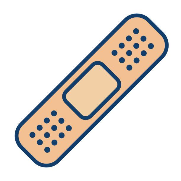 Medical Line Icon Adhesive Bandage Medical Line Icon Adhesive Bandage adhesive bandage stock illustrations