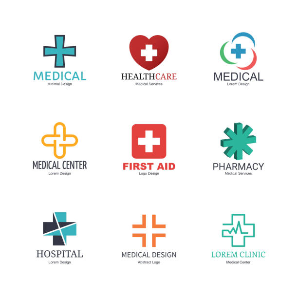 medical logo design - first aid stock illustrations, clip art, cartoons, & icons