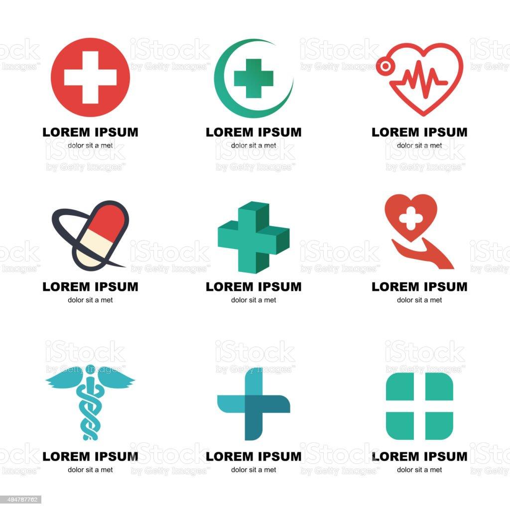 medical logo vector art illustration