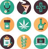 Medical Marijuana Icons and Symbols