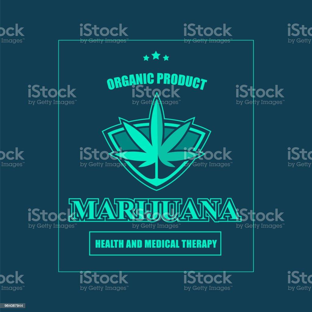 Medical marijuana label. - Royalty-free Alternative Medicine stock vector