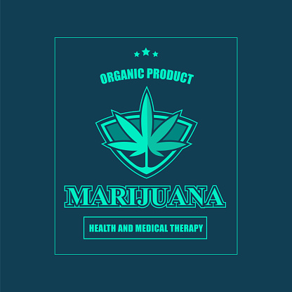 Medical Marijuana Label Stock Illustration - Download Image Now