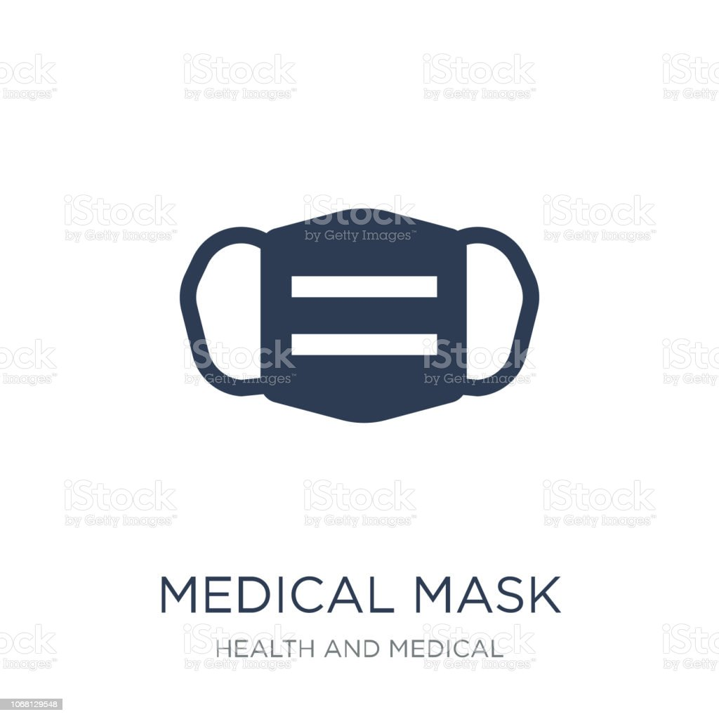 medical Mask icon. Trendy flat vector medical Mask icon on white background from Health and Medical collection vector art illustration