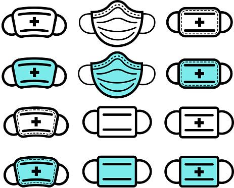 medical mask icons