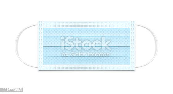 istock Medical Mask Realistic Vector Illustration 1216773885