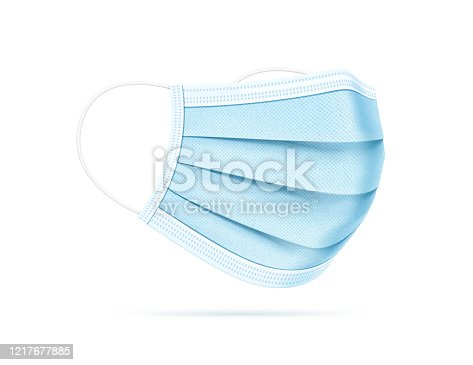 istock Medical Mask Realistic Vector Illustration 1217677885