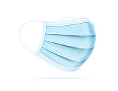 istock Medical Mask Realistic Vector Illustration 1217677885