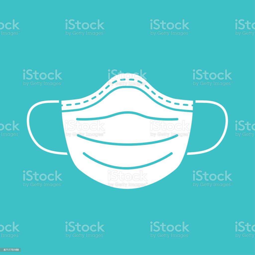 Medical mask vector icon. vector art illustration
