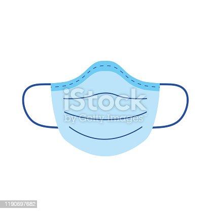 Medical mask flat icon
