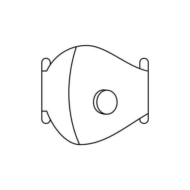 ilustrações de stock, clip art, desenhos animados e ícones de medical mask with a valve. n95, ffp2 protective mask. - ffp2