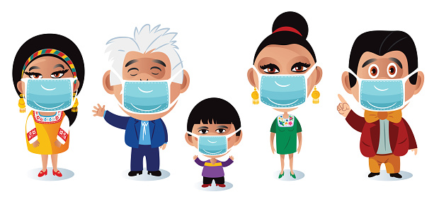 Medical masks Family and Coronavirus