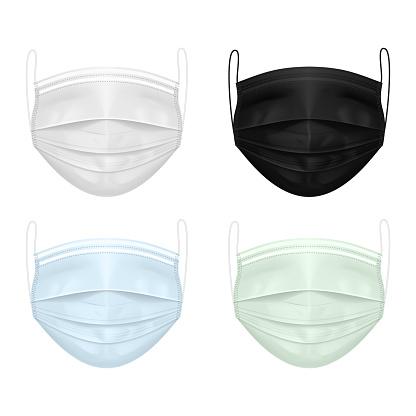 Medical Masks Stock Illustration - Download Image Now