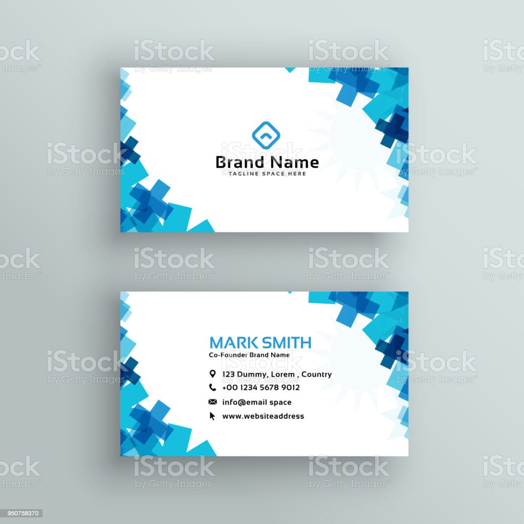 Medical Or Healthcare Style Business Card Design Stock Vector Art ...