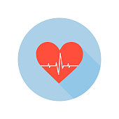 Medical Palpitation Icon. Heartbeat Healthcare and Medical Sign and Symbol.