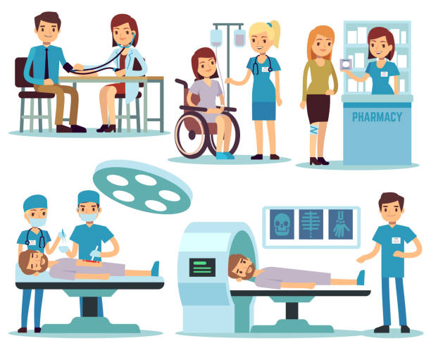 Medical Office Staff Illustrations, Royalty-Free Vector ...