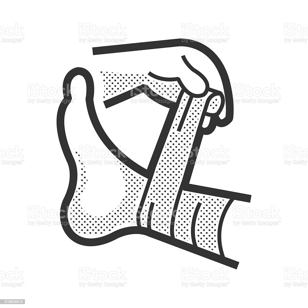 Medical Patient icon, Injury leg vector art illustration