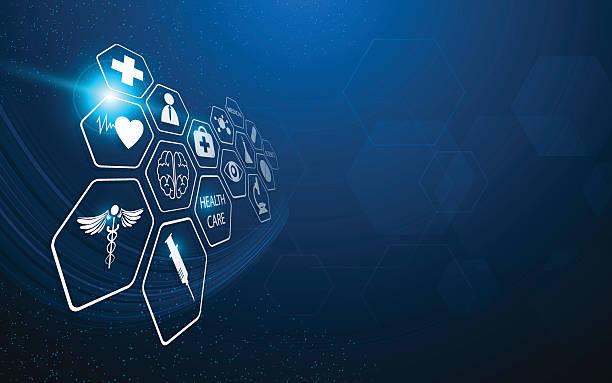 medical pattern hi tech innovation concept design vector backgroundvectorkunst illustratie